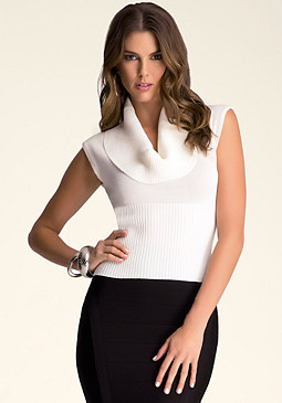 bebe Foldover Neck  Top