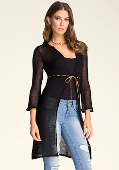 bebe Tape Yarn Sweater Cover Up