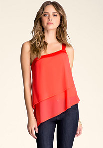 ASYMMETRIC TIERED TOP at bebe