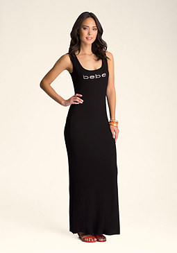 bebe Peek-A-Boo Maxi Dress