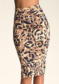 Print Midi Skirt at bebe