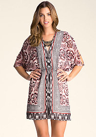 bebe Dolman Necklace Dress