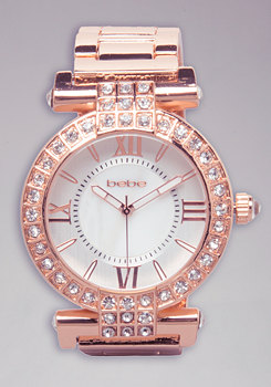 bebe T-Bar Link Watch
