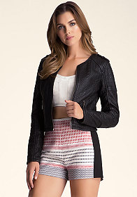 bebe Bonded Knit Jacket