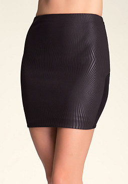 bebe Midi Side Inset Skirt