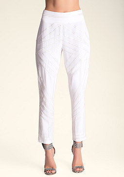 bebe �ber Embroidered Pants
