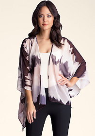 Tie Dye Kimono Cover-Up at bebe