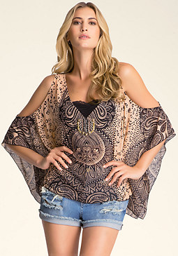 Cold Shoulder Kaftan at bebe