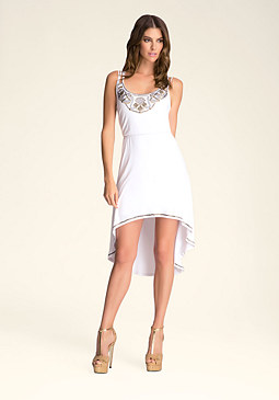bebe Hi-Lo Multi Strap Dress