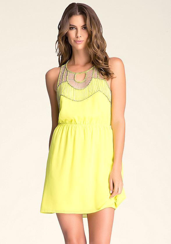 Embellished Woven Dress