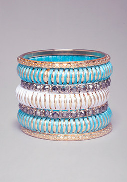 bebe Thread Wrapped Bangle Set