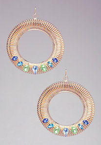 Coil & Stone Hoops at bebe