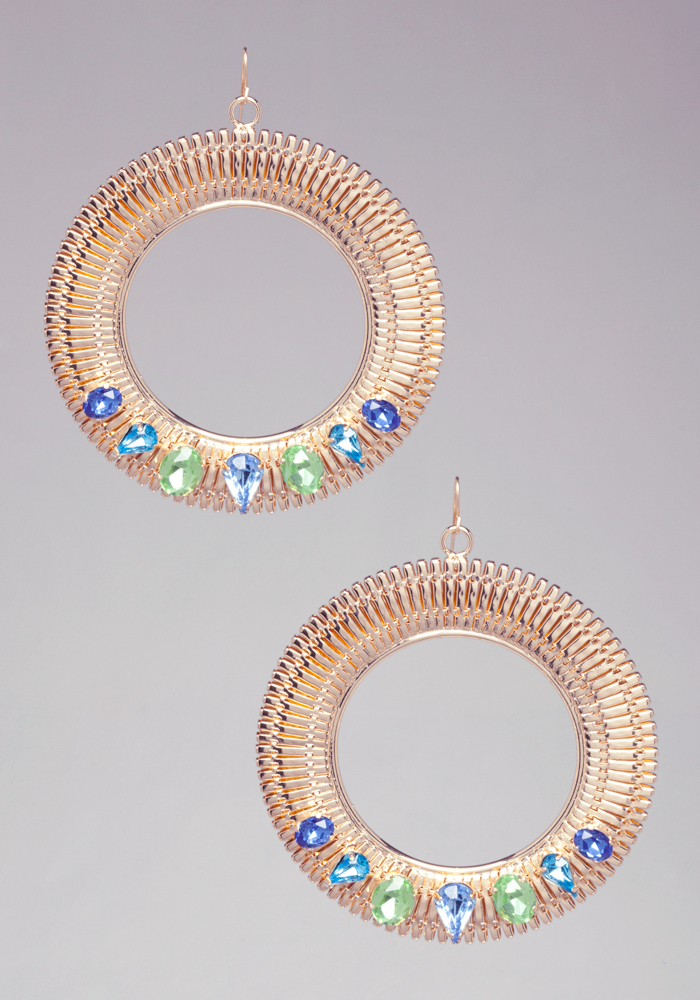 Flat Coil & Stone Hoops