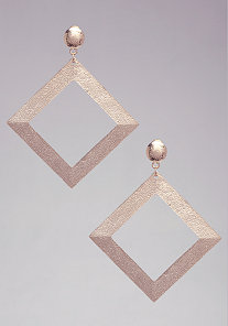 Geometric Duster Earrings at bebe