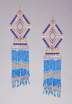 BEAD & CRYSTAL EARRINGS at bebe