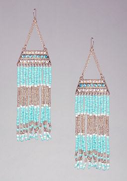 MULTICOLOR BEAD EARRINGS at bebe