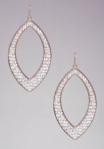 CUTOUT TEARDROP EARRINGS at bebe