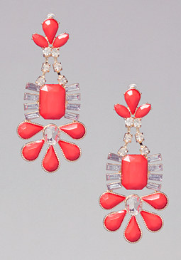 bebe Geometric Crystal Earrings