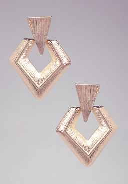 GEOMETRIC DROP EARRINGS at bebe
