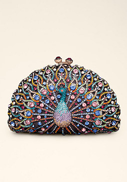 bebe Spoiled Peacock Clutch