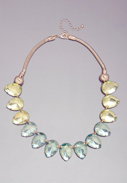 TEARDROP OMBRE NECKLACE at bebe