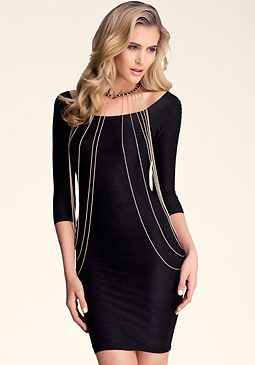 bebe Draped Chain & Body Chain