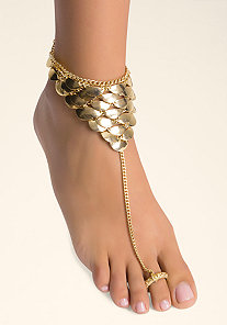 HALF MOON FOOT JEWELRY at bebe