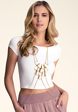 PLATED BODY CHAIN at bebe