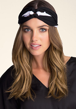 bebe Two-Tone Braided Headband