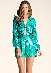 KNOTTED ROMPER at bebe