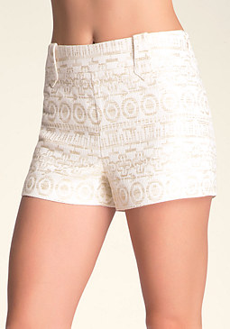 bebe Metallic Clean Shorts