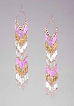 Bead Duster Earrings at bebe