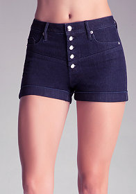 Button Yoke Shorts at bebe