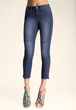 Sophia Zipper Capris at bebe