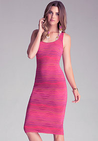 bebe Racerback Striped Dress