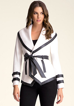 bebe Wool Wrap Jacket