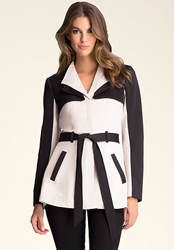 bebe Mixed Short Scuba Trench