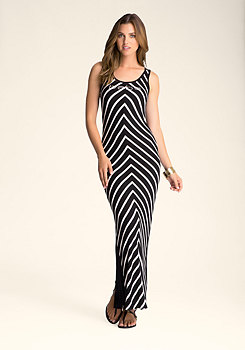 bebe Mix Stripe Colorblock Maxi