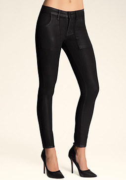 bebe Coated Low Waist Skinny