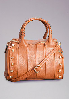 bebe Stacy Studded Mini Satchel