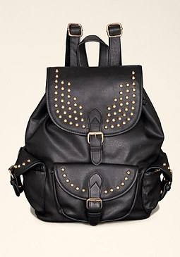 bebe Bethany Studded Backpack