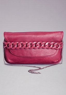 bebe Carly Chainlink Clutch