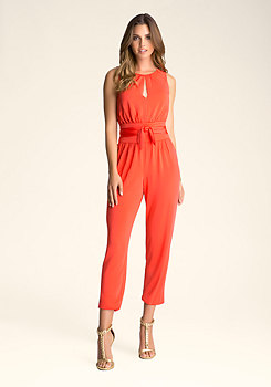 bebe Sleeveless Jumpsuit