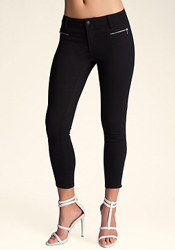Double Zipper Capris at bebe