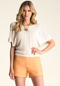Flutter Sleeve Sweater Top at bebe