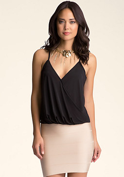 Hi-Lo Surplice Cami at bebe