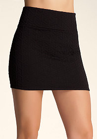 bebe Quilted Mini Skirt