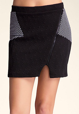 bebe Textured Mini Skirt