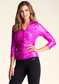 bebe Iridescent Funnel Jacket