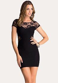 bebe Soleil Lace Inset Dress